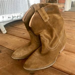 MIA Genuine Leather Brown Cowgirl Boots